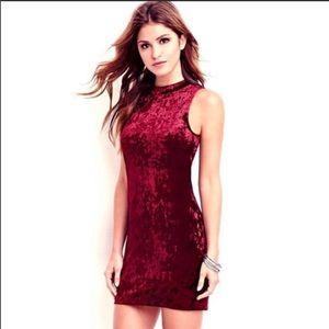 Red Velvet Christmas Holiday Cocktail Dress